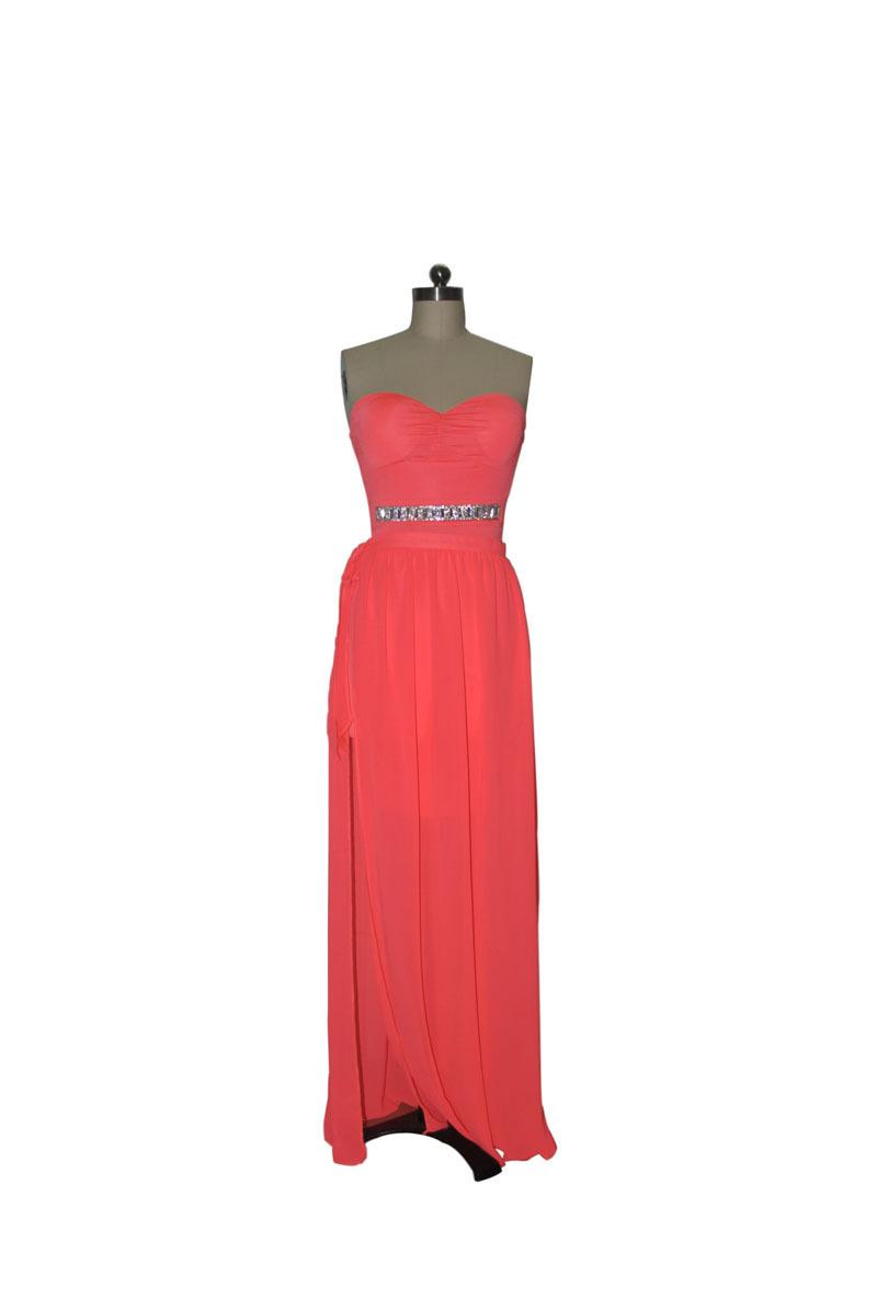 1fb721445d4fda 2015 nieuwe aankomst elegante strapless jurk patchwork roze chiffon lange  avondjurk vestidos de fiesta in end235719389171272015 ...