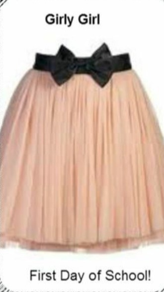 skirt bow skirt with bow cute beige skirt