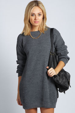 Kadie Fisherman Jumper Dress at boohoo.com