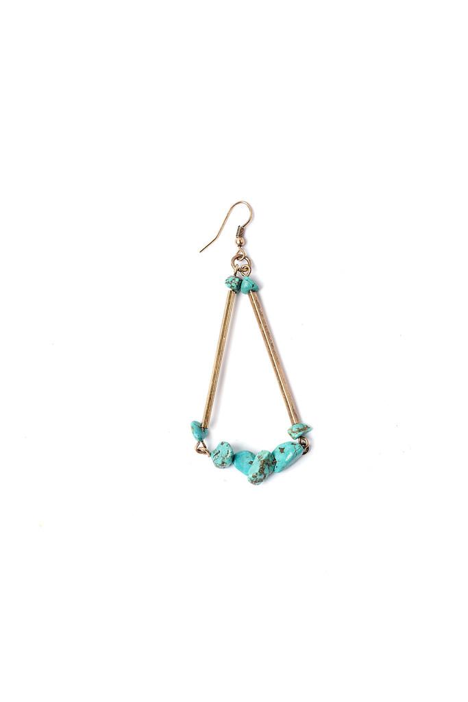 Turquoise Pebble Earrings