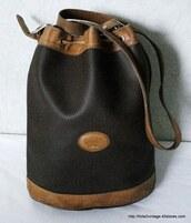 bag,longchamp,cuir,vintage,black,brown