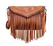 bag,fringes,purse,brown,boho chic,tribal pattern,boho,tote bag,crossbody bag