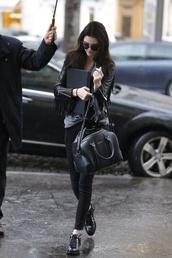 jeans,bag,shoes,kendall jenner,jacket,black