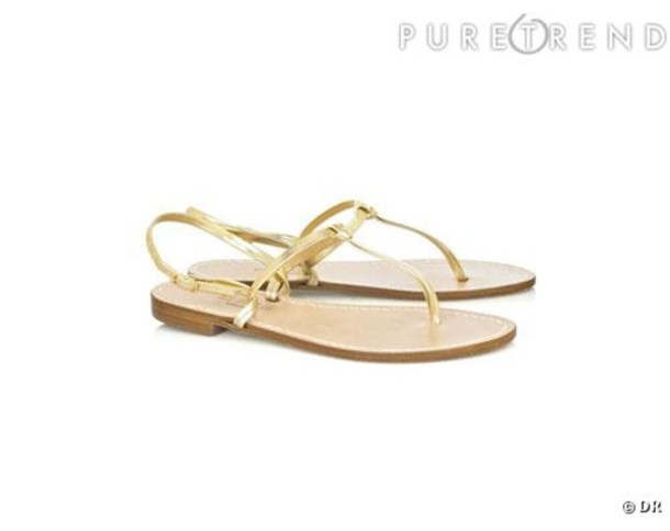 sandales open sandals or gold nu-pieds yellow shoes