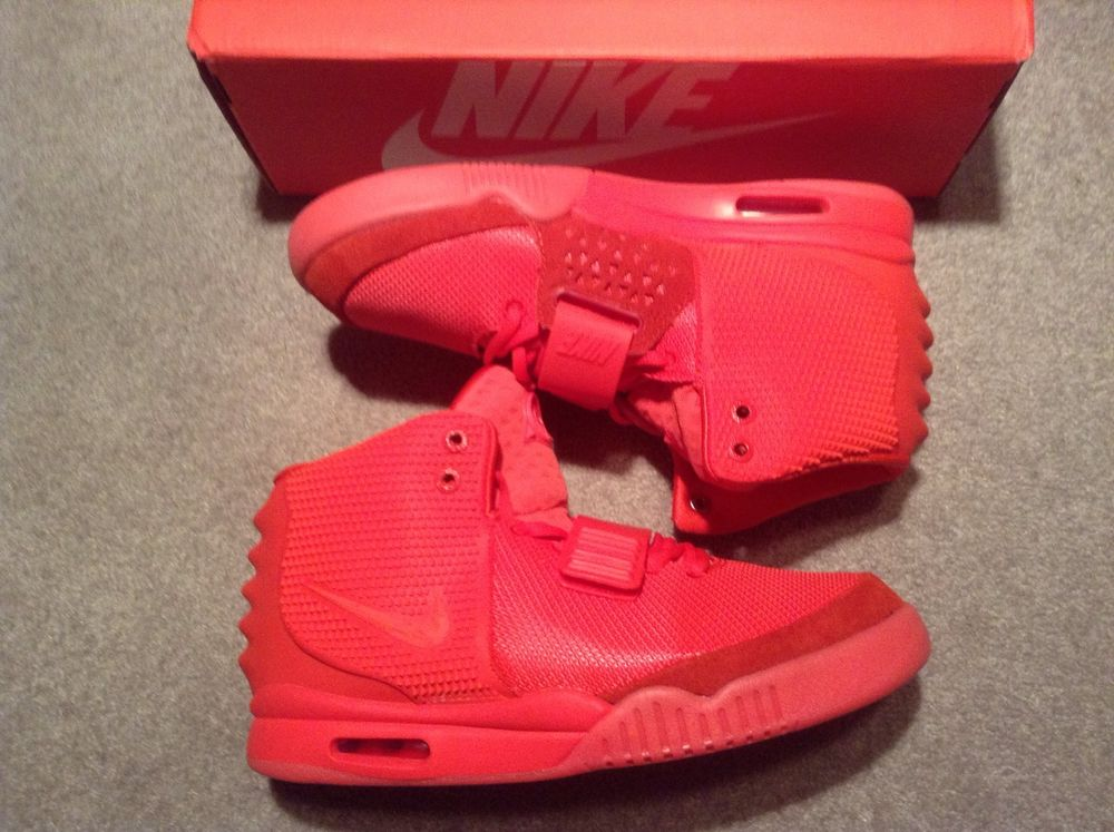 7d5a3d9b7b645 ... top quality nike air yeezy 2 red october deadstock size 8 5 kanye west  solar red