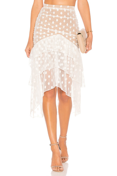 MAJORELLE Heidi Skirt in white