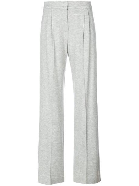 Max Mara high women spandex silk grey pants