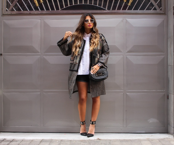 style by nelli blogger jacket shorts shirt bag jewels