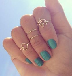 Gold midi ring set · forgotten magic · online store powered by storenvy