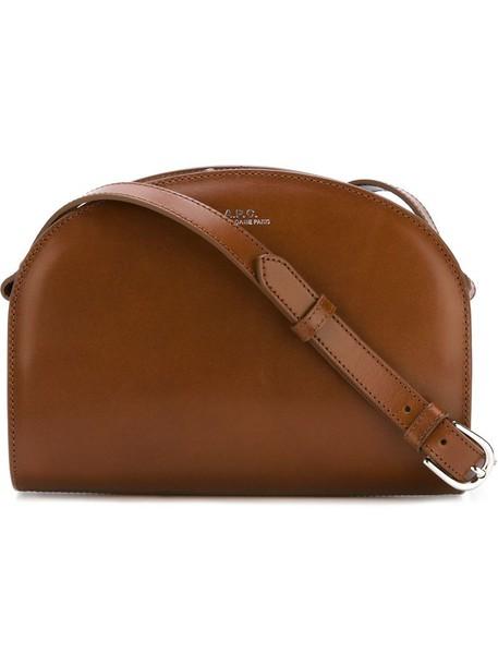 A.P.C. A.P.C. zipped shoulder bag, Women's, Brown, Leather