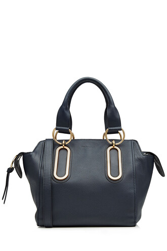 leather blue bag