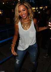 jewels,gold,necklace,statement necklace,gold jewelry,gold necklace,bling,jeans,beyonce,blue,denim,shirt,jacket,xo,indian coins