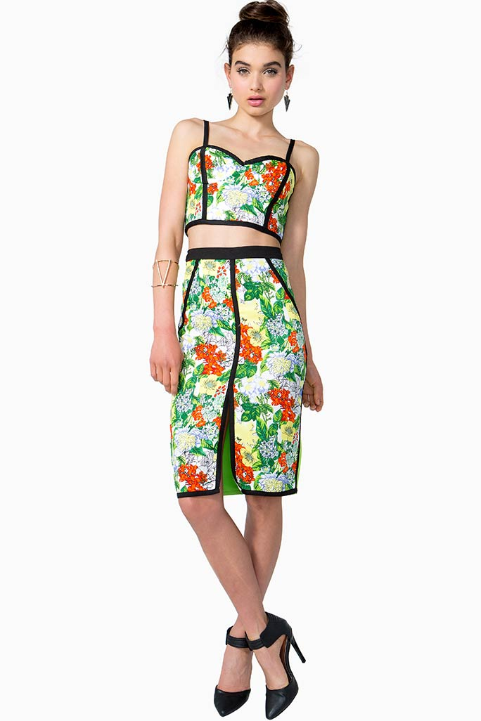 Tropical Pencil Skirt