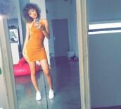 dress,orange dress,bodycon dress,mini dress