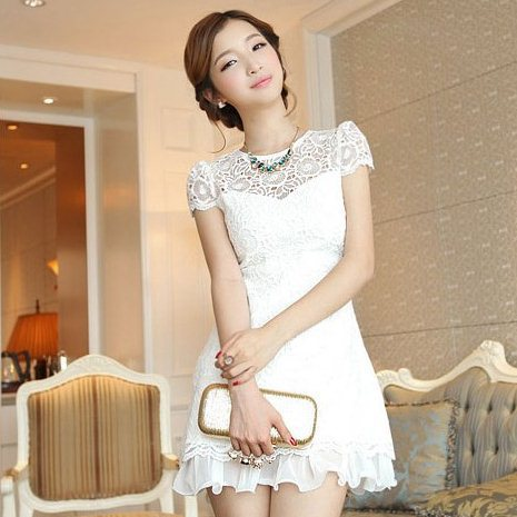 new 2014 women lace dress summer new fashion Slim lace dress casual dress plus size women clothing 12284-in Dresses from Apparel & Accessories on Aliexpress.com