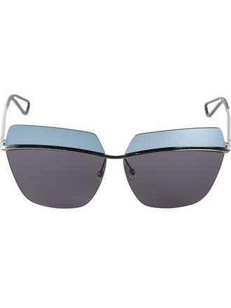 metallic women sunglasses blue