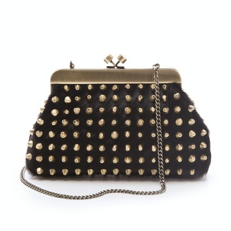 House of Harlow 1960 Tilly Haircalf Clutch / TheFashionMRKT