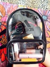 bag,backpack,adidas,clear,bookbag