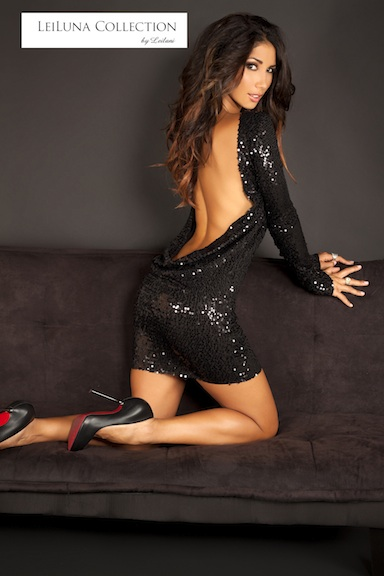 Sequin backless dress (black) from leiluna collection on storenvy