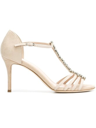 embellished pumps nude shoes