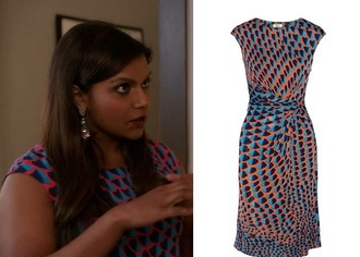 dress orange wrap season 3 episode 10 pattern mindy project mindy kaling