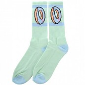 socks,fashion,pastel,donut,green,style,cute,kawaii,boogzel