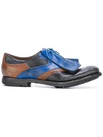 women shoes lace-up shoes lace leather black