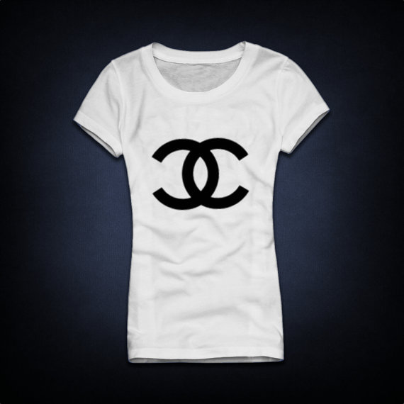 Chanel CC logo woman Tshirt t shirt top tee Handmade by Joyce9866