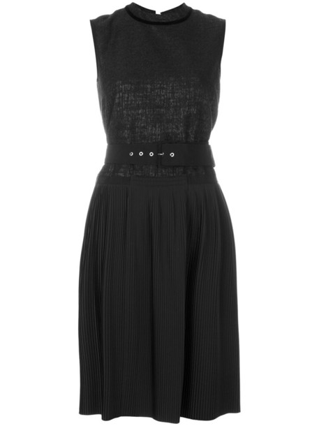 dress shift dress pleated women black
