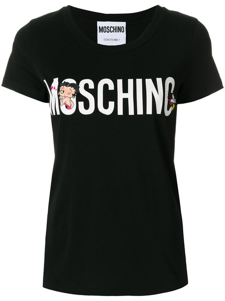 Moschino t-shirt shirt t-shirt women betty boop cotton black top