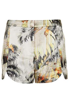 Short festonné à motif palmier - Shorts - Vêtements - Topshop en français