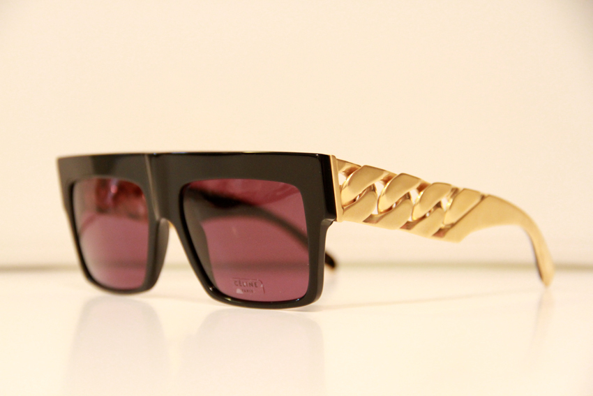 Celine Gold Frame Sunglasses : Celine Celine Gold Chain Limited Edition Sunglasses ...
