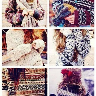 scarf black white red sweater winter outfits beige necklace burgundy blue winter sweater winter sweaters colours knitted sweater knitted scarf burgundy sweater black and white pattern brunette headwear scarf red