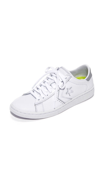 sneakers silver leather white shoes
