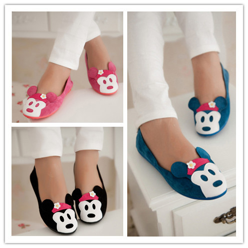 2014 New Fashion Cute Mickey Mouse Women Flats Shoes Flats Women Shoes Women Flats Sandals Shoe Wholesale Free Shipping A181-in Flats from Shoes on Aliexpress.com