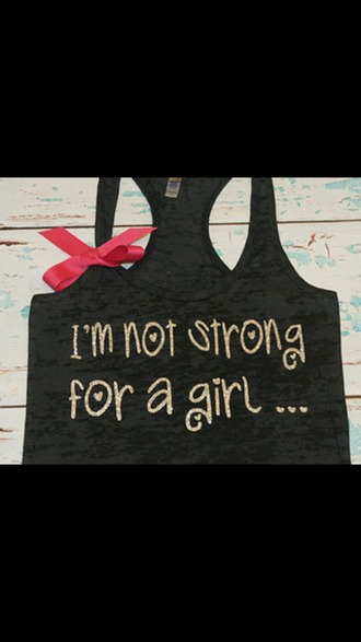 shirt tank top girly pink bow black tank top black shirt