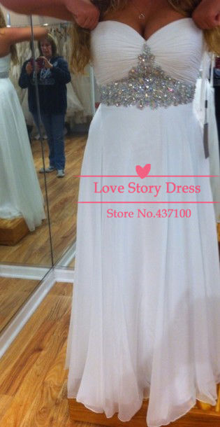 Sexy women white party dresses sweetheart pleated rhinestones chiffon maxi long dress formal prom dresses special occasion dress