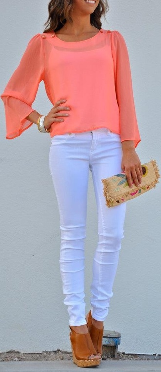 shoes platform shoes wood wedges brown shoes wedges white blouse jeans