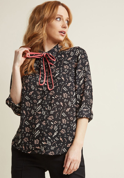 Mct1480a blouse black blouse chiffon print black pink top
