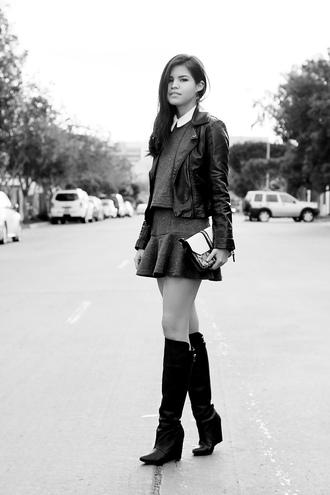 shoes sweater bag skirt dress jewels jacket fake leather