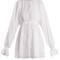 Lace-trimmed cotton-blend mousseline top