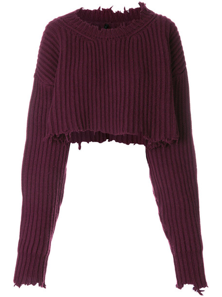 Unravel Project sweater cropped sweater cropped women wool red