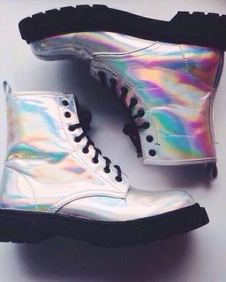 shoes boots transparent neon combat boots combat