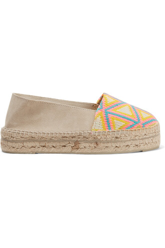 espadrilles suede beige shoes