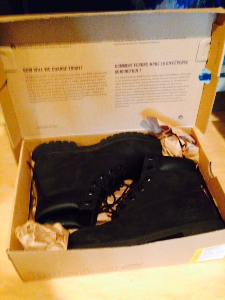 Black youth timberlands tims sz 6 5 womens 8 5 9 with box mens unisex