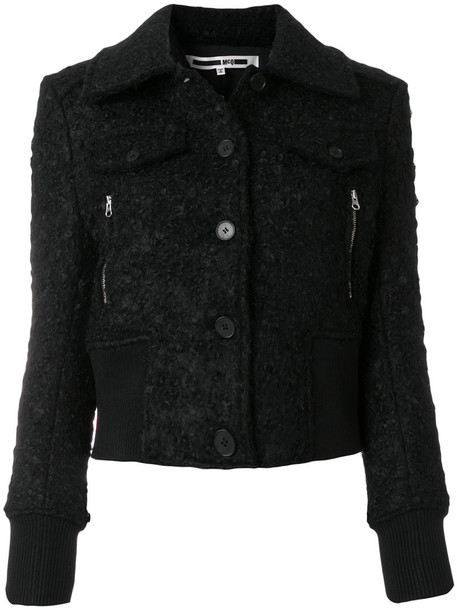 jacket cropped jacket casual cropped women spandex mohair black wool