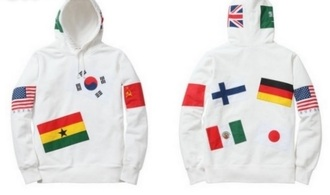 shirt korean flag top american flag flags hoodie korean fashion