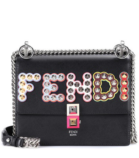 Fendi bag shoulder bag leather black