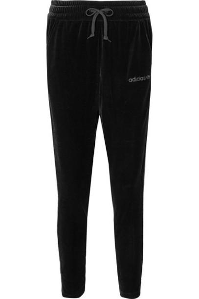 pants track pants black velvet