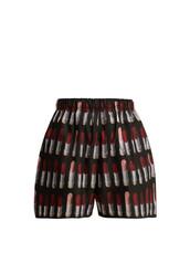 shorts,print,black